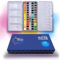 ArtWhale Artists' Watercolor 48 Colors in Half-Pans