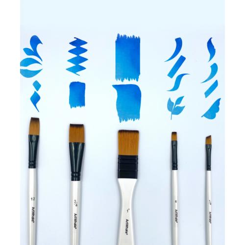Painting Brush Set With Holder, 10 pcs